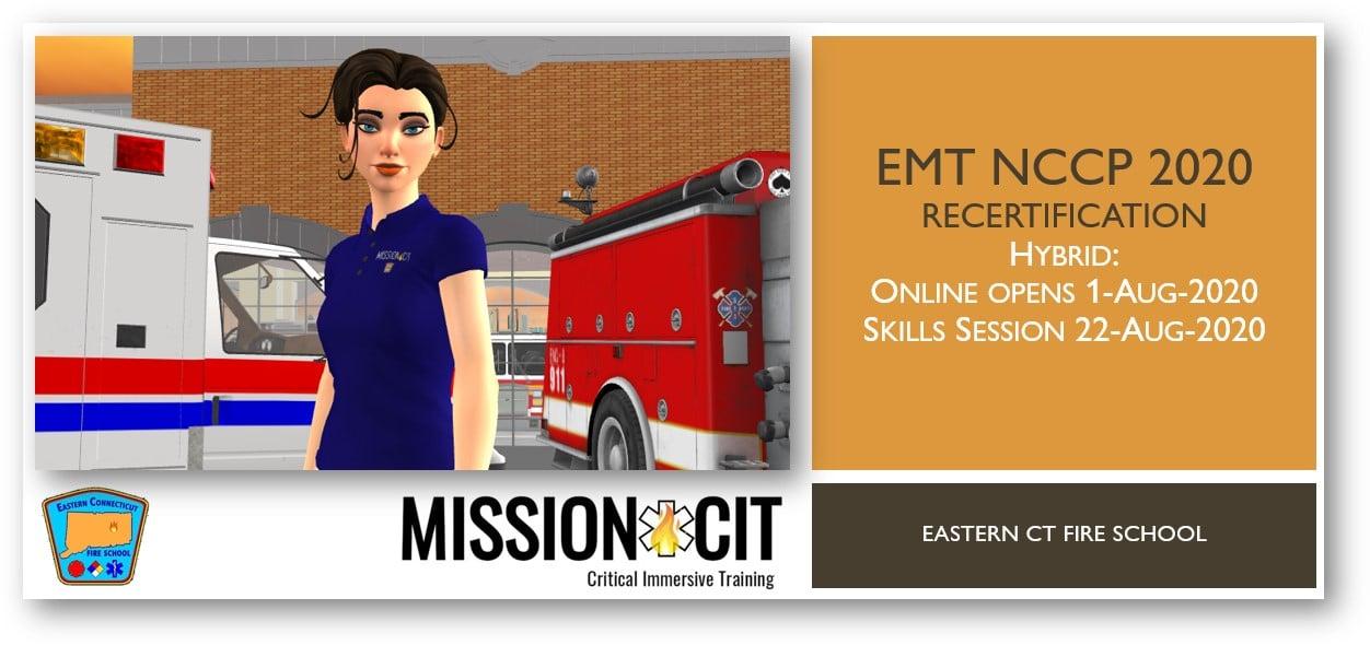 EMT NCCP 2020 Recertification Course | ECFS | 1-Aug-2020 thru 22-Aug-2020