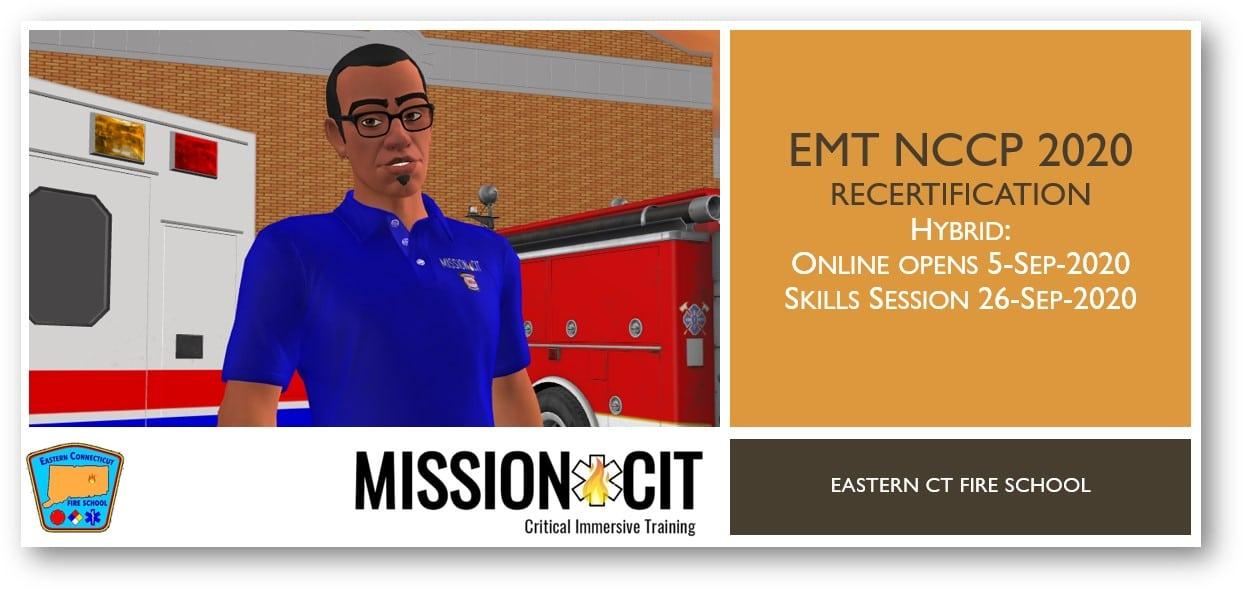 EMT NCCP 2020 Recertification Course   ECFS   5-Sep-2020 thru 26-Sep-2020