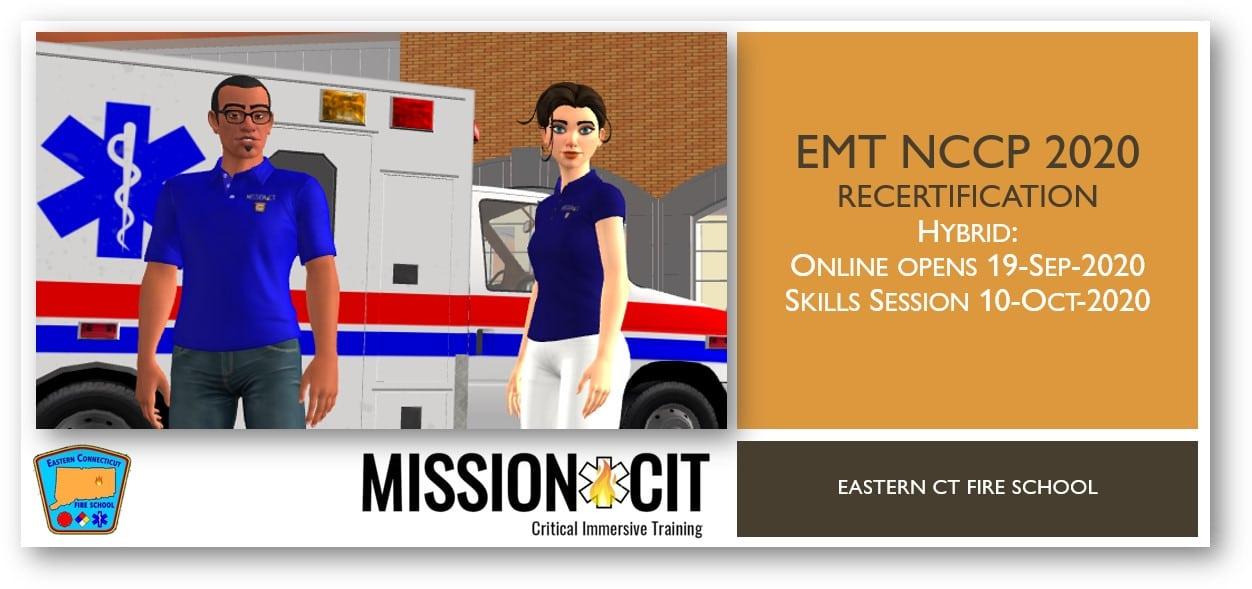 EMT NCCP 2020 Recertification Course   ECFS   19-Sep-2020 thru 10-Oct-2020