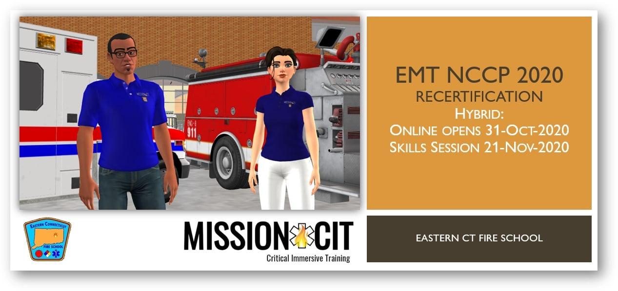 EMT NCCP 2020 Recertification Course | ECFS | 31-Oct-2020 thru 21-Nov-2020
