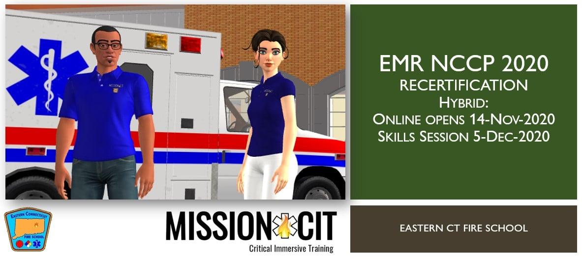 EMR NCCP 2020 Recertification Course | ECFS | 14-Nov-2020