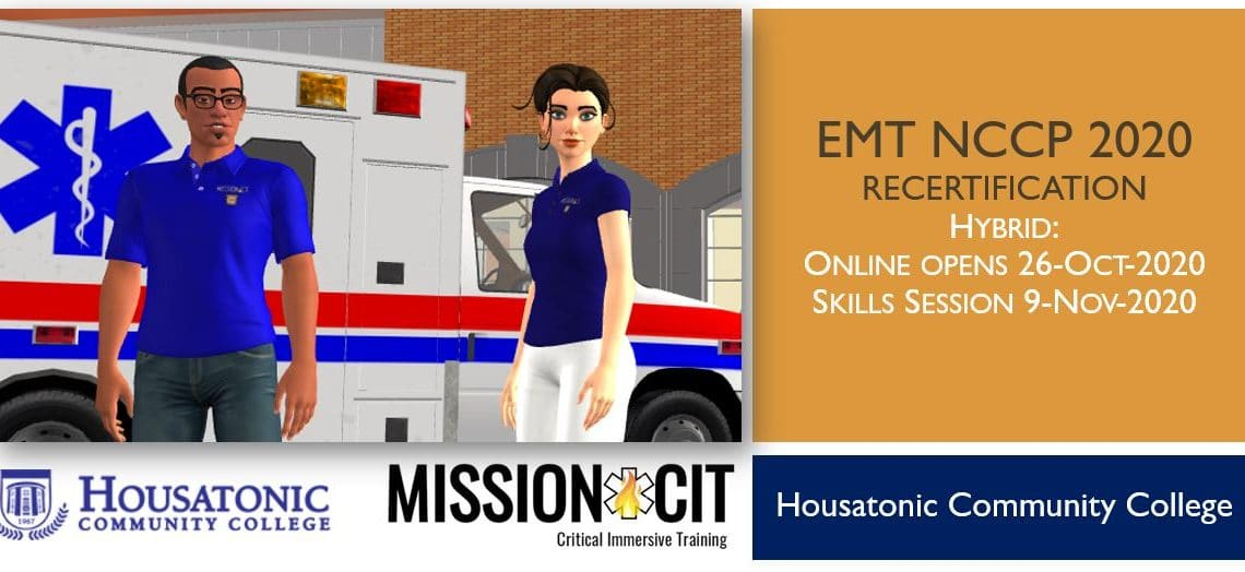EMT NCCP 2020 Recertification Course | HCC | 26-Oct-2020