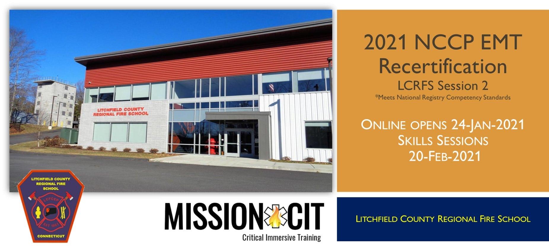 EMT NCCP 2021 Recertification Course | LCRFS Session 2