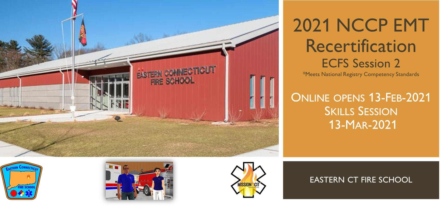 EMT NCCP Recertification Hybrid Course | ECFS | 2021 Session 2