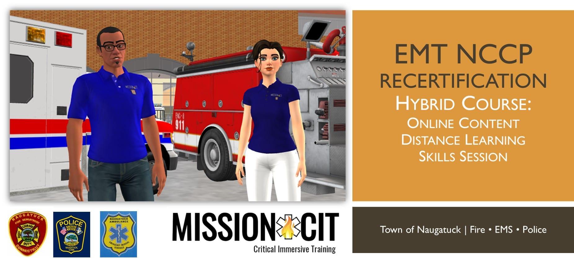 EMT NCCP Recertification Course | Naugatuck | MissionCIT