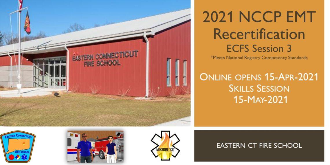EMT NCCP Recertification Hybrid Course   ECFS   2021 Session 2