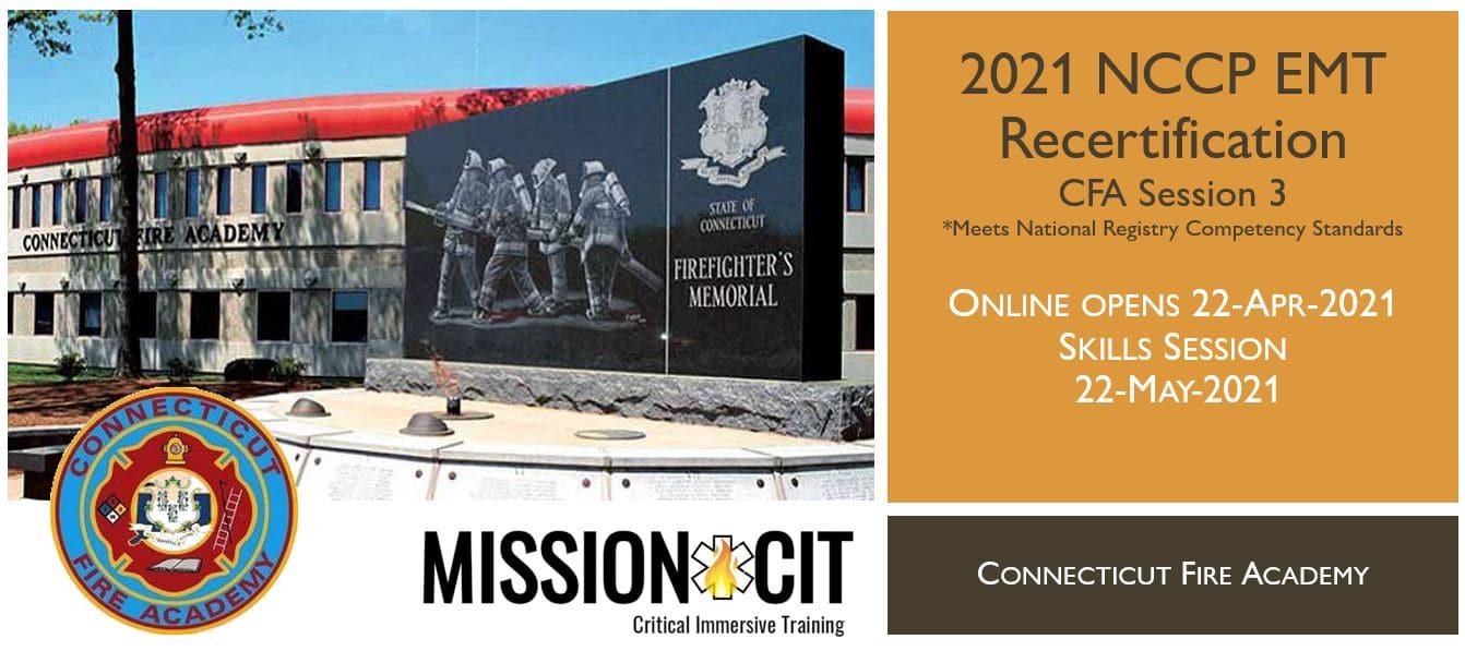 EMT NCCP Recertification | CFA | 2021 Session 3 | Connecticut emt training | meets NREMT, CAPCE requirement for EMTs