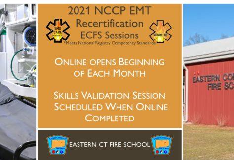 EMT NCCP Recertification Hybrid Course | ECFS | 2021 Session 8 | Connecticut emt training | meets NREMT, CAPCE requirement for EMTs