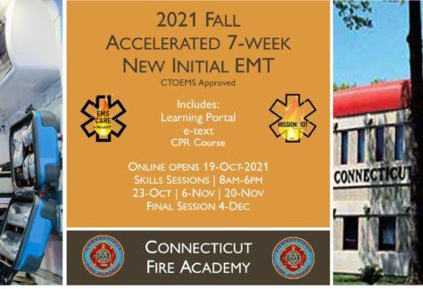 2021 Fall EMT Initial Course | CFA Session 6 | 7 Week | emt course near me | emt class ct | emt courses in ct | ctoems course
