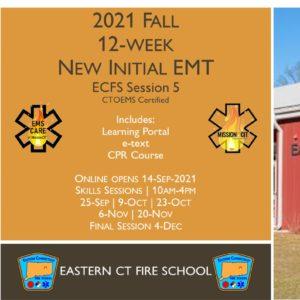 2021 Fall EMT Initial Course | ECFS Session 5 | 12 week | emt course near me | emt class ct | emt courses in ct | ctoems course