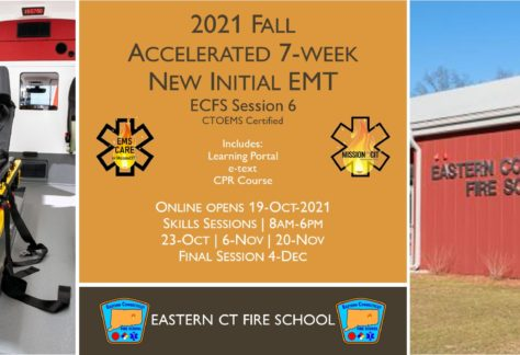 2021 Fall EMT Initial Course | ECFS Session 6 | 7 week | emt course near me | emt class ct | emt courses in ct | ctoems course