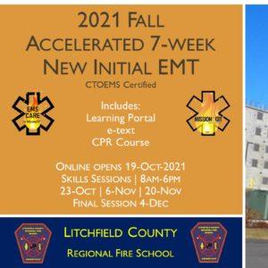 2021 Fall EMT Initial Course | LCRFS Session 6 | 7 Week | emt course near me | emt class ct | emt courses in ct | ctoems course