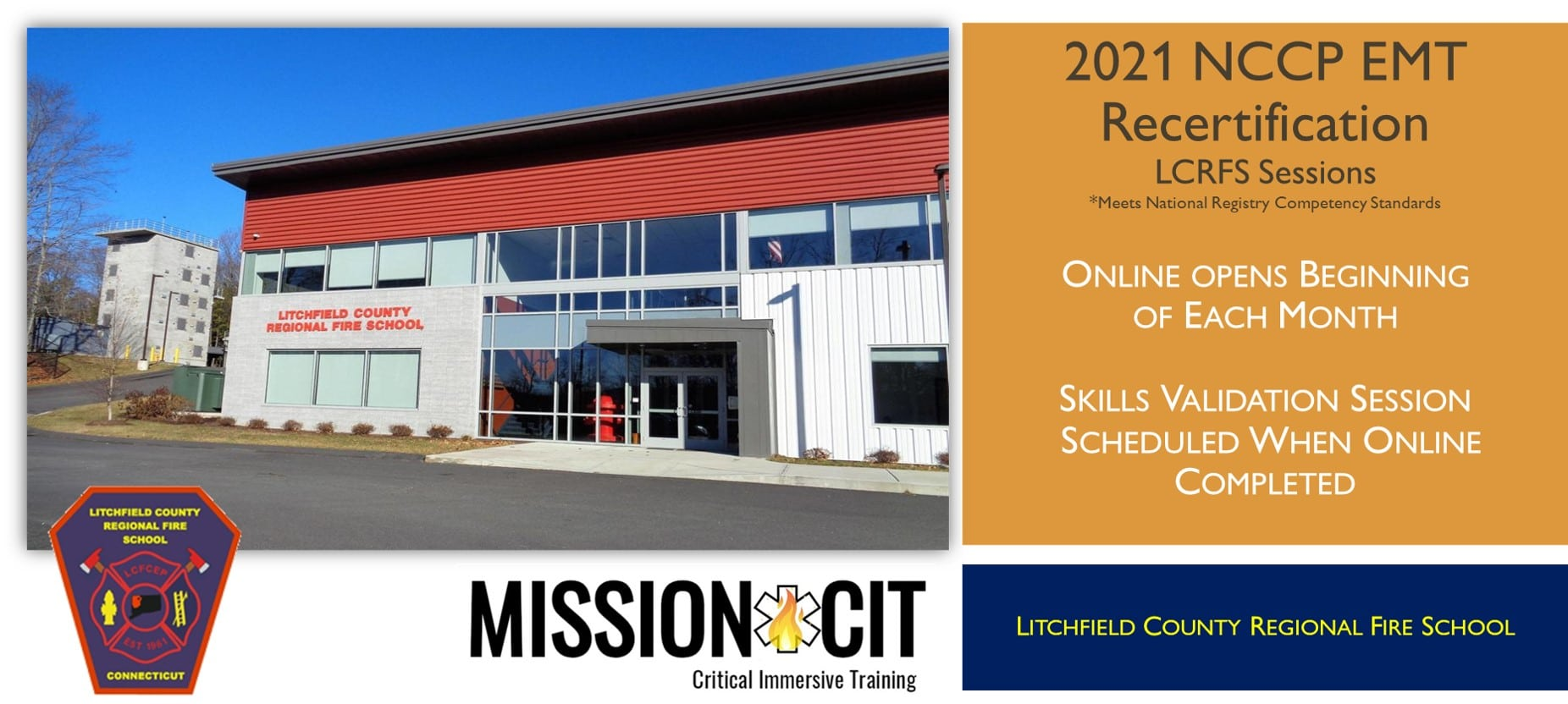 EMT NCCP 2021 Recertification Course | LCRFS Sessions | Hybrid EMT Course | CT EMT classes | EMT Recertification CT | National Registry