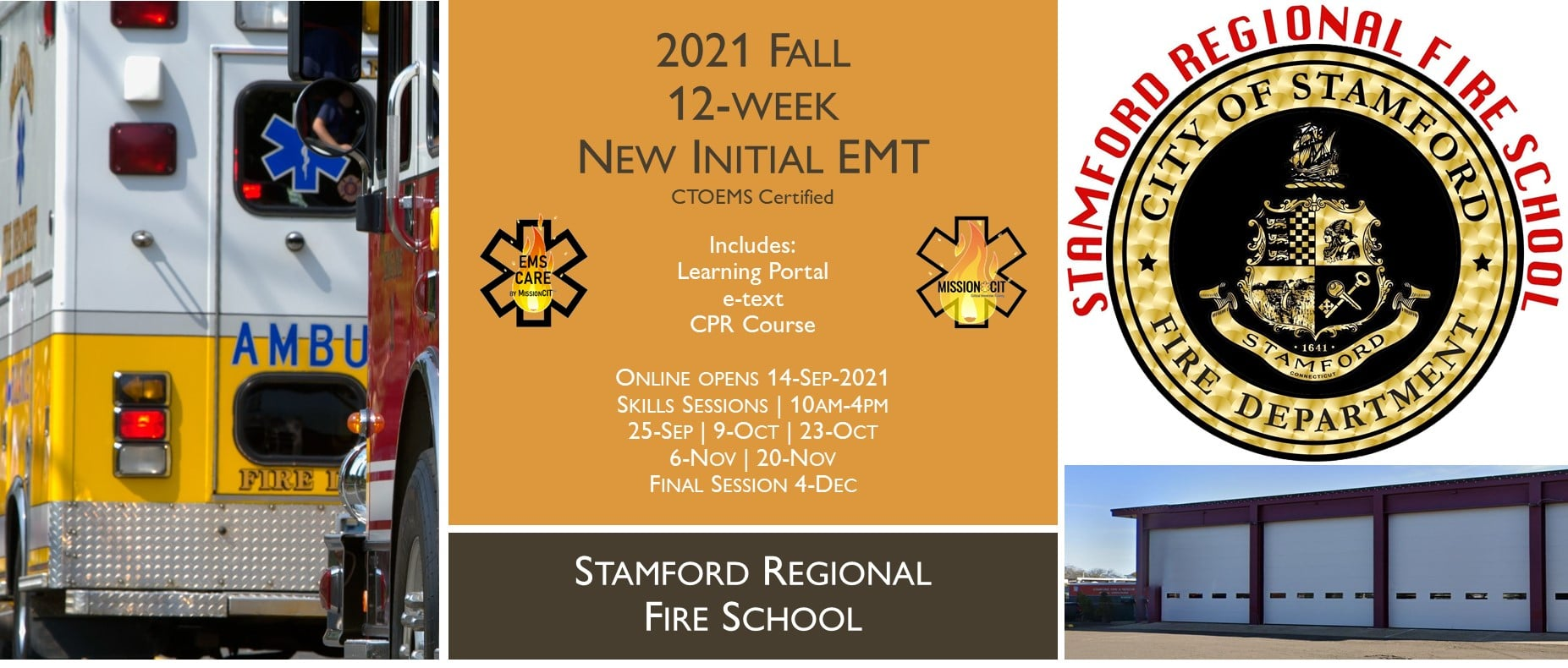 2021 Fall EMT Initial Course   Stamford Session 5   12 Week