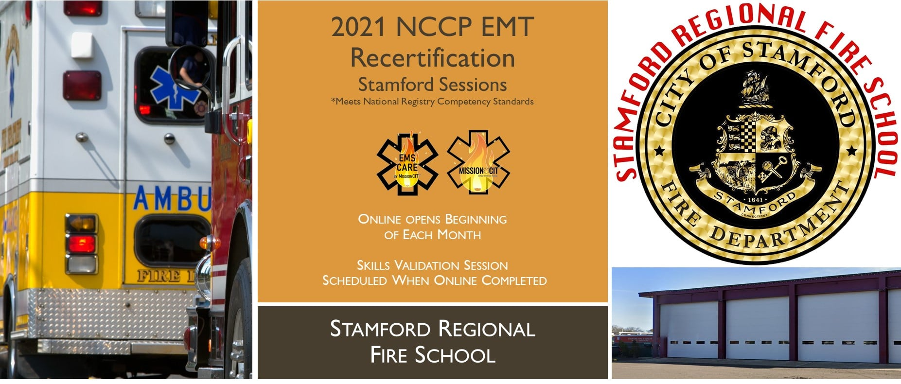 EMT NCCP 2021 Recertification Course   Stamford Sessions